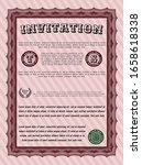 red vintage invitation template.... | Shutterstock .eps vector #1658618338