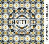 unsettled arabesque emblem... | Shutterstock .eps vector #1658618365