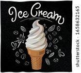 vintage retro ice cream cone... | Shutterstock .eps vector #1658632165
