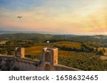 Walls Of The Medieval Town Of...