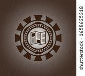 brochure icon inside vintage... | Shutterstock .eps vector #1658635318