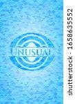 Unusual Light Blue Emblem With...