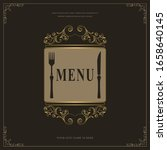 luxury restaurant menu logo... | Shutterstock .eps vector #1658640145