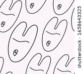 happy easter pattern with... | Shutterstock .eps vector #1658643325