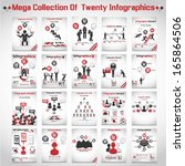 mega collections of ten modern... | Shutterstock .eps vector #165864506