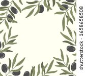 olives branches hand drawn... | Shutterstock .eps vector #1658658508