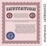 red retro vintage invitation.... | Shutterstock .eps vector #1658666032