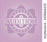 audition pink emblem. vintage.... | Shutterstock .eps vector #1658666125