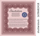 red vintage invitation. with... | Shutterstock .eps vector #1658682418