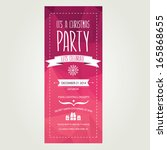 vector christmas party... | Shutterstock .eps vector #165868655