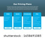 pricing plan table blue ...