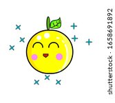 Cute Lemon Mascot Character For ...