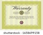 yellow vintage warranty... | Shutterstock .eps vector #1658699158