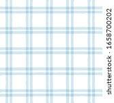blue gingham seamless pattern.... | Shutterstock .eps vector #1658700202