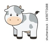 cute cow with outline vector... | Shutterstock .eps vector #1658772688
