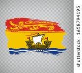 flag of new brunswick brush...