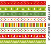 set of bright christmas ribbons | Shutterstock . vector #165881555