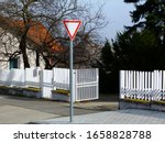 White Metal Picket Fence  Gate...