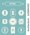 set of keyholes. vintage design ... | Shutterstock .eps vector #165884345