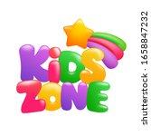 kids zone sign 3d cartoon text... | Shutterstock .eps vector #1658847232
