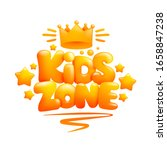 kids zone sign 3d cartoon... | Shutterstock .eps vector #1658847238