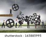 conceptual image of... | Shutterstock . vector #165885995