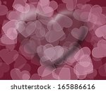 Background of many pink hearts - stock photo