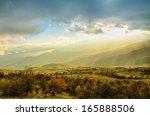 rural sunset landscape with... | Shutterstock . vector #165888506