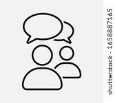 chat  speak sign  talk icon... | Shutterstock .eps vector #1658887165