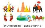 Thailand Travel Icon  Set Of...