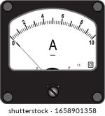 A Square Black Ammeter For 10...