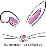 Easter Bunny Cute Vector...