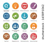 seo   internet marketing icons  ... | Shutterstock .eps vector #165891062
