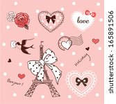 Cute Pink Elements About Love