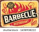barbecue restaurant vintage tin ...   Shutterstock .eps vector #1658938222