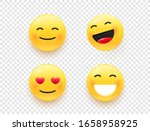 yellow web emoticons isolated... | Shutterstock .eps vector #1658958925