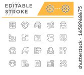 set line icons of car rent   Shutterstock .eps vector #1658968675