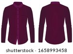 purple long sleeve collared... | Shutterstock .eps vector #1658993458