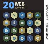 modern flat design web icons on ...