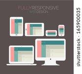 flat style responsive webdesign