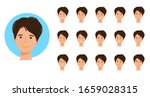 a girl's face with different...   Shutterstock .eps vector #1659028315