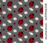 pattern with ladybug and... | Shutterstock .eps vector #1659046258