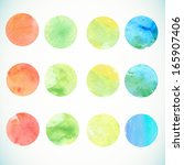 watercolor circle design... | Shutterstock .eps vector #165907406