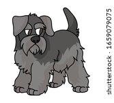 cute cartoon schnauzer puppy...   Shutterstock .eps vector #1659079075