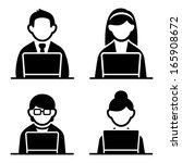 programmer icons set | Shutterstock . vector #165908672