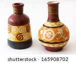 Two Decorative Vases   Isolate...