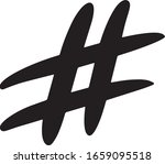 hashtag  vector icon on a white ...   Shutterstock .eps vector #1659095518