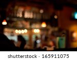 Stock photo blurred pub background 165911075