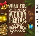 vector illustration. christmas...   Shutterstock .eps vector #165911606