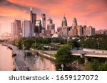 Downtown City Skyline View Of...